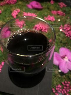 ガラスのコーヒーカップの写真・画像素材[2940867]