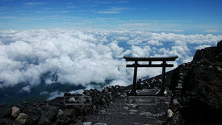 雲海と鳥居の写真・画像素材[2997986]