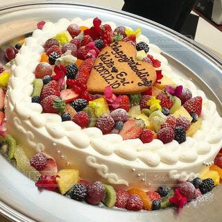 友達のウェディングケーキの写真・画像素材[3147697]