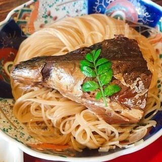 サバ素麺の写真・画像素材[4121479]