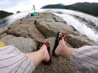 水風船ビーサン(handmade)の写真・画像素材[4662077]