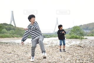 川遊びの写真・画像素材[4376730]