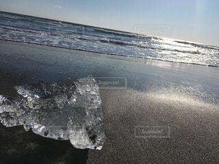 自然,海,冬,ビーチ,波,水面,氷,ジュエリー,ジュエリーアイス