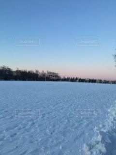 自然,風景,空,冬,雪,夕方,北海道,雪景色
