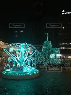 夜,綺麗,イルミネーション,ライトアップ,クリスマス,照明,札幌,明るい