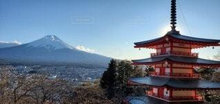 男性,自然,空,屋外,山,快晴,五重の塔,fuji