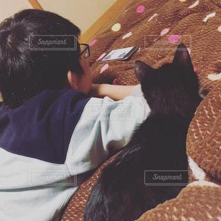 子ども,猫,動物,人物