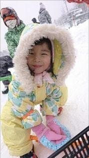 子ども,アウトドア,スポーツ,雪,かわいい,人物,幼児,ゲレンデ,レジャー