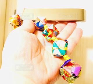 折り紙のドアノブ飾りの写真・画像素材[3165780]