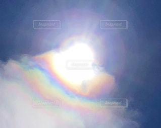 晴天の虹色空の写真・画像素材[3245939]