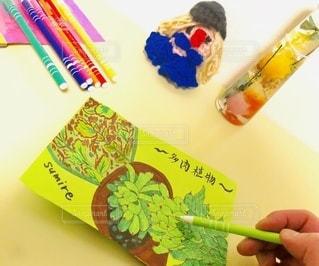多肉デッサン♡おうち時間の写真・画像素材[3305708]
