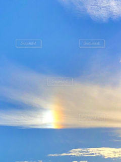 太陽の柱の写真・画像素材[3000333]