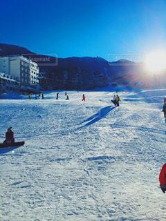 女性,男性,友だち,アウトドア,スポーツ,雪,青空,人物,スキー,ゲレンデ,レジャー,天気,晴,スノーボード