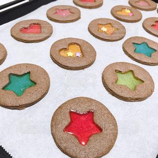 ステンドガラスクッキーの写真・画像素材[2970628]