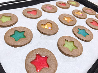 ステンドガラスクッキーの写真・画像素材[2970622]