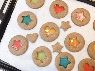 ステンドガラスクッキーの写真・画像素材[2970626]