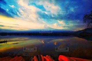逆さ富士の写真・画像素材[2998474]