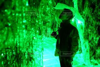 氷のトンネルの写真・画像素材[2997754]