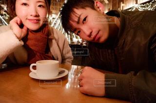 カフェでまったりの写真・画像素材[3884538]