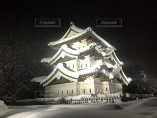 弘前城の写真・画像素材[4141028]