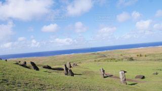 風景,空,絶景,草原,景色,草,旅行,高原,イースター島