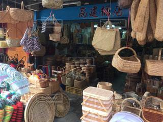 台湾のカゴ屋さんの写真・画像素材[3003384]
