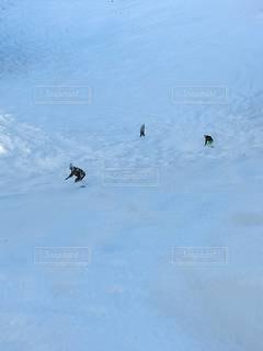 雪原滑降の写真・画像素材[2981340]