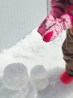 雪遊びと手袋の写真・画像素材[2996444]