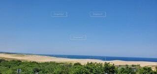 鳥取砂丘を砂の美術館から撮影しました⭐の写真・画像素材[4462414]