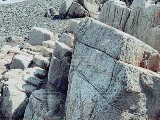 岩のクローズアップの写真・画像素材[3030584]