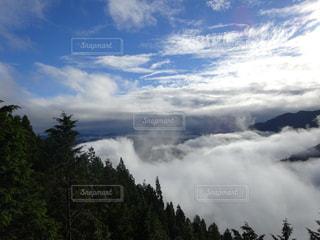 自然,風景,空,雲,青空,霧,山,雲海,山神様,ご加護