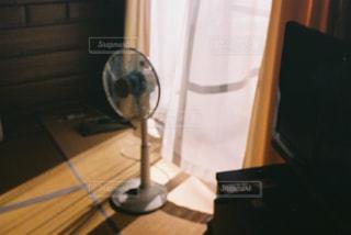 夏,屋内,部屋,レトロ,家,扇風機,夕陽