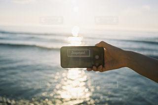 海,空,屋外,ビーチ,水面,夕方,キラキラ,スマートフォン,iphone,電子機器
