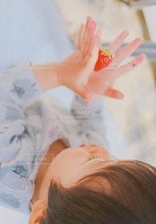 子ども,家族,いちご,苺,手のひら,宝物,幼児,赤い,大丈夫