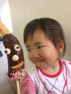 チョコバナナが可愛い過ぎて困るの写真・画像素材[1643664]