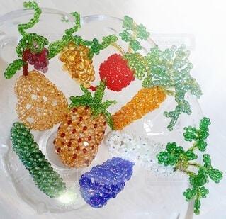 キラキラ光る野菜と果物の写真・画像素材[4658383]