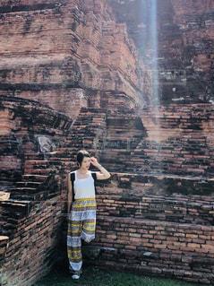 女性,自然,建物,屋外,光,レンガ,人,タイ,遺産,アユタヤ,ジャケ写,巡り