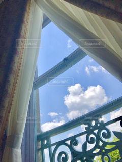 空,雲,窓,ハート