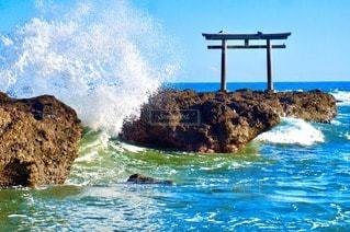 自然,海,絶景,波,水面,岩,茨城県,大洗