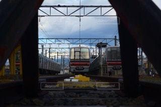 空,屋外,駅,電車,鉄道,景観,車両