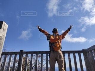 山頂に着いた〜の写真・画像素材[3844043]
