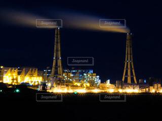 碧南工場夜景ライトアップの写真・画像素材[4018654]