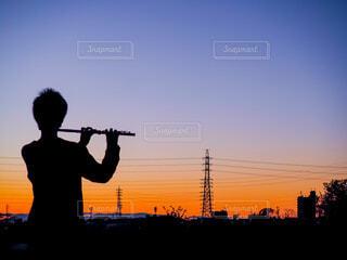 夕焼けのメロディの写真・画像素材[4648893]
