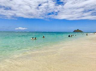 自然,風景,海,空,屋外,砂,ビーチ,青,砂浜,水面,海岸,泳ぐ,ハワイ,ラニカイビーチ,日中,ラニカイ
