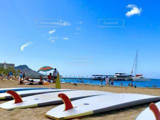 空,屋外,サーフボード,ビーチ,砂浜,ハワイ,ワイキキ