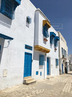 空,建物,屋外,海外,窓,家,地中海,通り,チュニジア