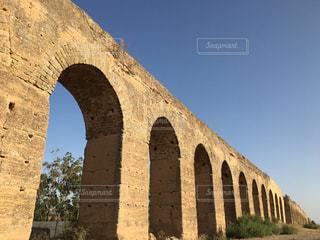 空,建物,橋,屋外,海外,遺跡,アーチ,石,水道橋,チュニジア
