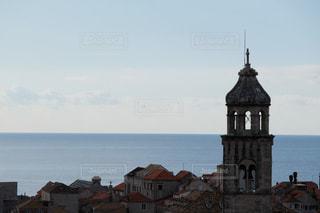 ドゥブロブニクの旧市街から見るアドリア海の写真・画像素材[3021118]
