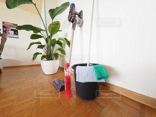 リビングルームの掃除の写真・画像素材[3102927]