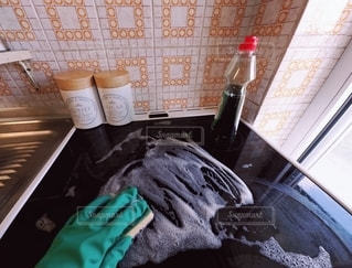 台所の掃除の写真・画像素材[3103651]